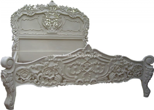 Rococo Ornately Carved Bed Kingsize AW